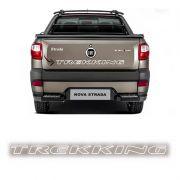 Faixa Traseira Fiat Strada Trekking Adesivo Branco