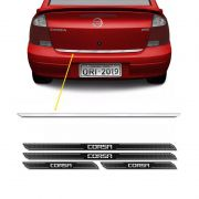 Friso Porta-Malas Corsa Sedan + Kit Soleira Protetora