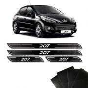 Jogo de Soleira Diamante Peugeot 207 Com Protetor De Porta