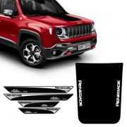 Kit Adesivo Capô Jeep Renegade 2016/2019 + Soleira Protetora