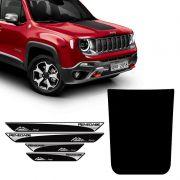 Kit Adesivo Capô Jeep Renegade + Soleira Da Porta Protetora