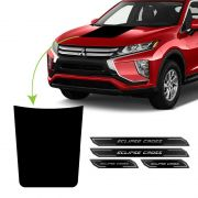 Kit Adesivo Do Capô Black Eclipse Cross + Soleira Protetora