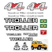 Kit Adesivo Emblema Resinado Troller 2005 4x4 Refletivo