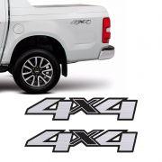 Par Adesivos 4x4 S10 Ltz High Country Blazer 13/19 Escovado
