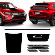 Kit Adesivos Capô E Placa Eclipse Cross Friso, Soleira Black