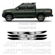 Kit Adesivos Faixa Frontier Attack Prata + Soleira da Porta