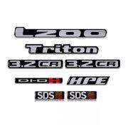 Kit Adesivos L200 Triton Hpe Sds Di-dh 3.2cr Resinado