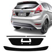 Kit Black New Fiesta 2015/18 Protetores Porta-Malas + Friso