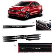 Kit Emblema do Painel Fiat Cronos + Soleira Com Black Over