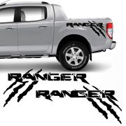 Kit Faixa Ford Ranger Garras 13/19 Adesivo Lateral Preto