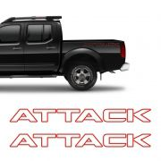 Kit Faixa Frontier Attack Modelo Original Adesivo Vermelho