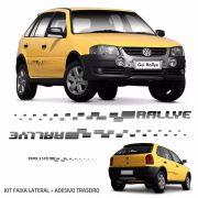 Kit Faixa lateral + Adesivo Traseiro Gol Rallye G4 Preto