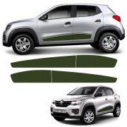 Kit Faixa Lateral Renault Kwid 2018/2019 Adesivo Verde
