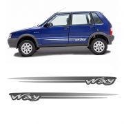 Kit Faixa Lateral Uno Way Até 2012 Adesivo Modelo Original