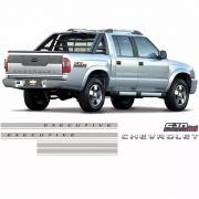 Kit Faixa S10 Executive Chevrolet Turbo Eletronic 4x4 Verm.
