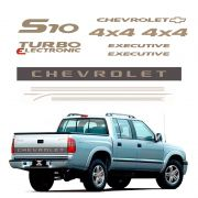 Kit Faixas S10 Executive 2003/ Chevrolet Adesivos Resinados