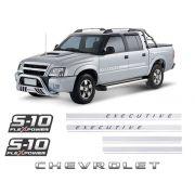 Kit Faixas S10 Executive Chevrolet Flex Power Vermelho