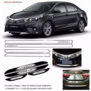 Kit Friso Lateral Dianteiro Traseiro Corolla 15/17 + Soleira