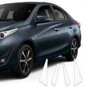 Kit Protetor De Porta Yaris Hatch Sedan Adesivo Transparente