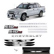 Kit S10 Executive Turbo Eletronic 4x4 + Soleira Black Over