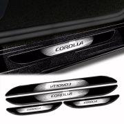 Kit Soleira Da Porta Corolla 15/ Com Black Over Resinado
