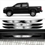Kit Soleira Da Porta Hilux Automatic Com Black Over Resinado