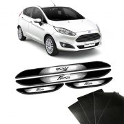 Kit Soleira Da Porta New Fiesta 2013 a 2018 Com Black Over