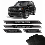 Kit Soleira Diamante Jeep Renegade 16/18 E Protetor de Porta