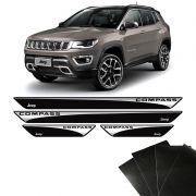 Kit Soleira Jeep Compass 17/19 Com Adesivo Protetor de Porta