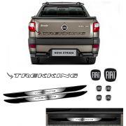 Kit Strada Trekking Preto + Emblemas + Soleira C/ Black Over
