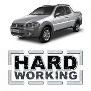 Par Adesivos Hard Working Fiat Strada Modelo Original