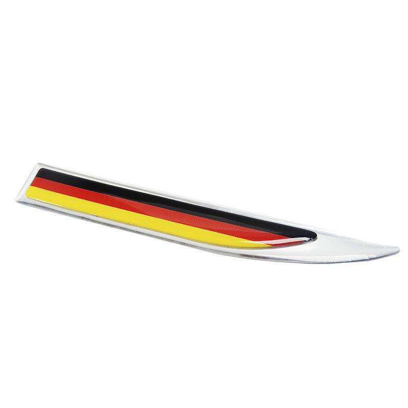 2 Protetores Paralama Bandeira Alemanha Aplique Resinado
