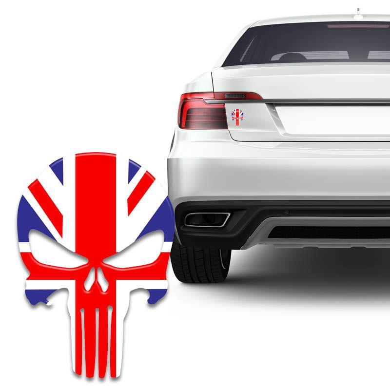 Adesivo Caveira O Justiceiro Bandeira Inglaterra Carro Moto
