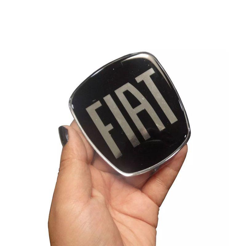 Adesivo Emblema Fiat Black Dianteiro E Traseiro Freemont