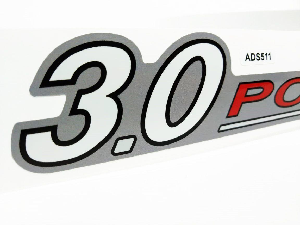 Adesivo Ford Ranger 2010/2012 Emblema 3.0 Powerstroke Prata