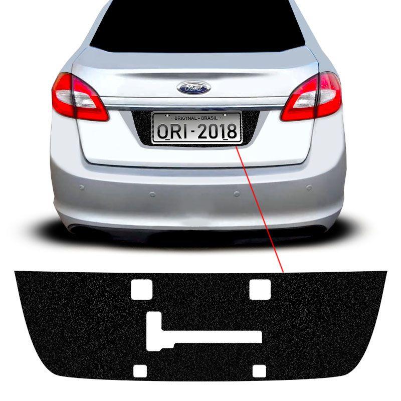 Adesivo Fundo De Placa New Fiesta Sedan 11/14 Porta-Malas