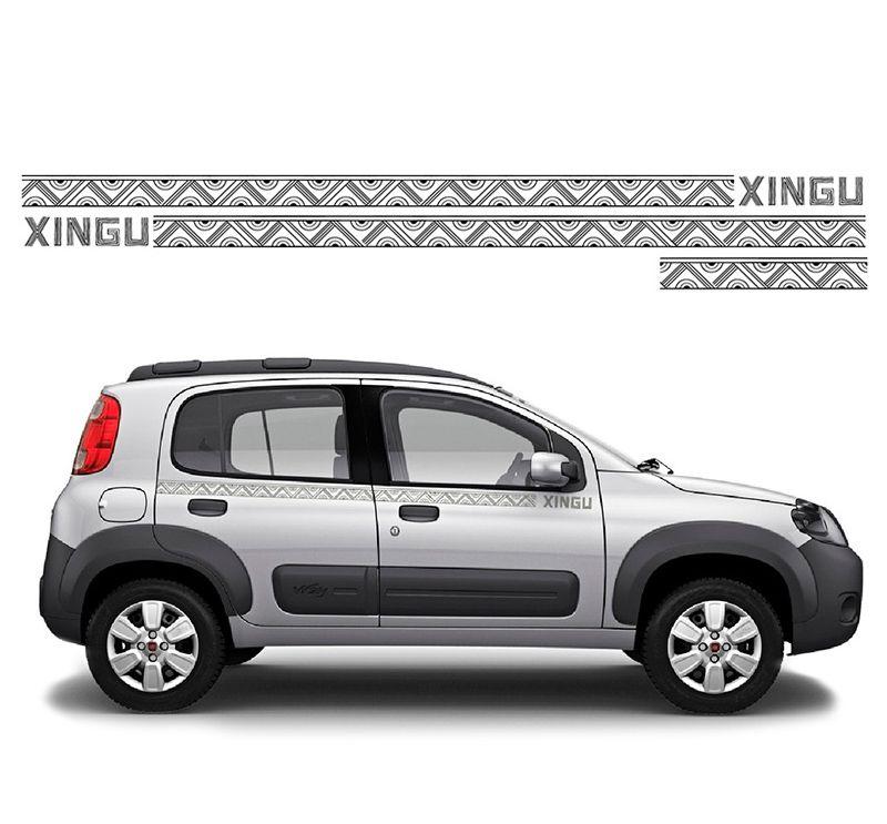 Adesivo Logo Faixa Fiat Uno Mille Way Xingu Kit Completo