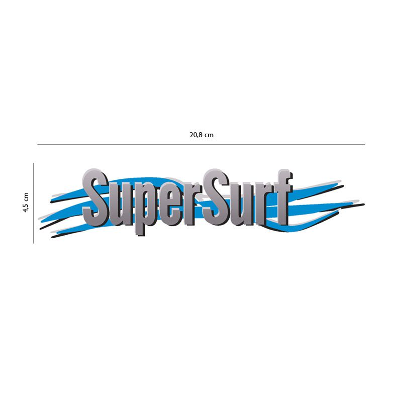 Adesivo Super Surf Saveiro Parati Gol 2003 Até 2008 Cinza