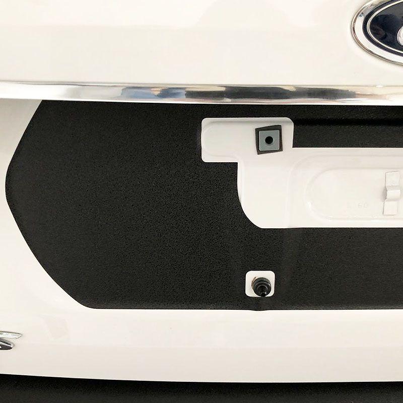 Adesivo Traseiro Fundo De Placa Focus Sedan 2018 Black Over