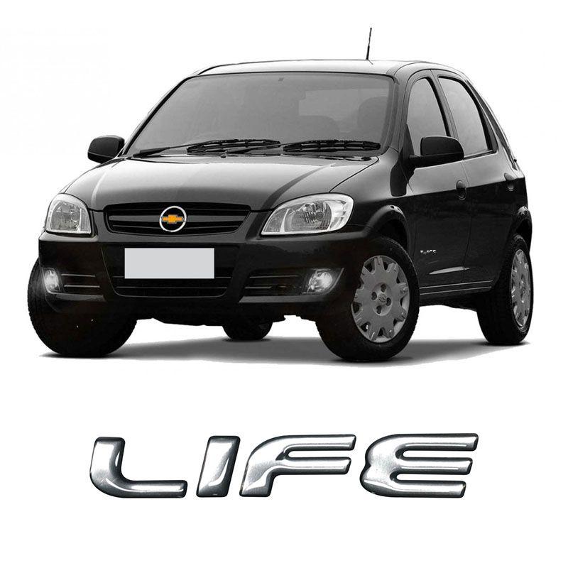 Emblema Life Celta Corsa 07/ Adesivo Modelo OrigInal Cromado