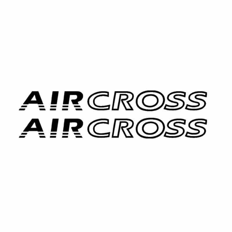 Faixa Lateral Air Cross Até 2015 Adesivo Preto Citroen