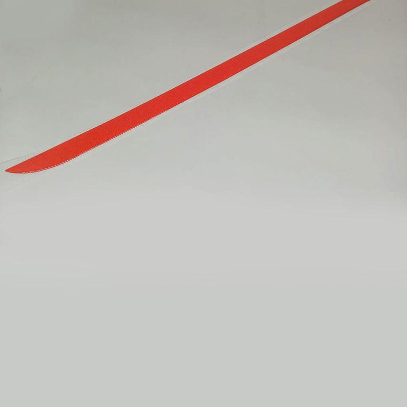 Friso Do Porta malas Logan 2014 Até 2017 Vermelho Refletivo