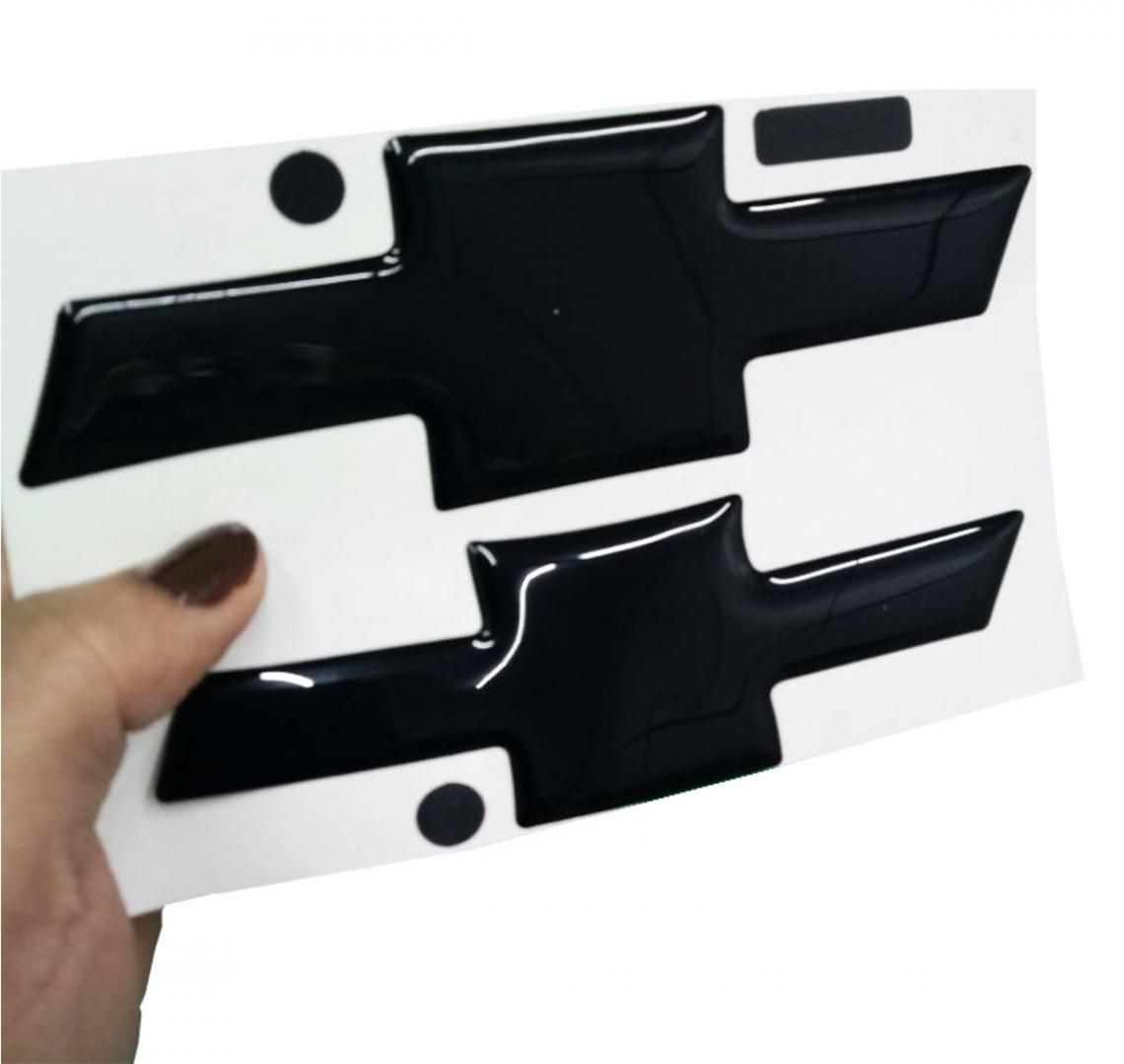 Gravata Adesiva Resinada Chevrolet Agile 09/13 Black Piano