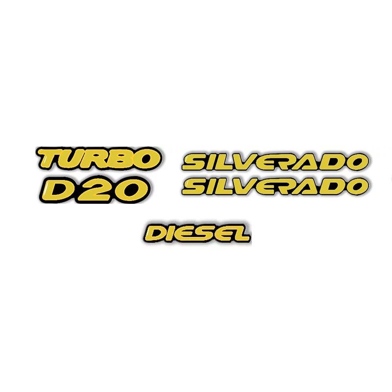 Kit Adesivo Emblemas Resinados Chevrolet Silverado D20 2000/