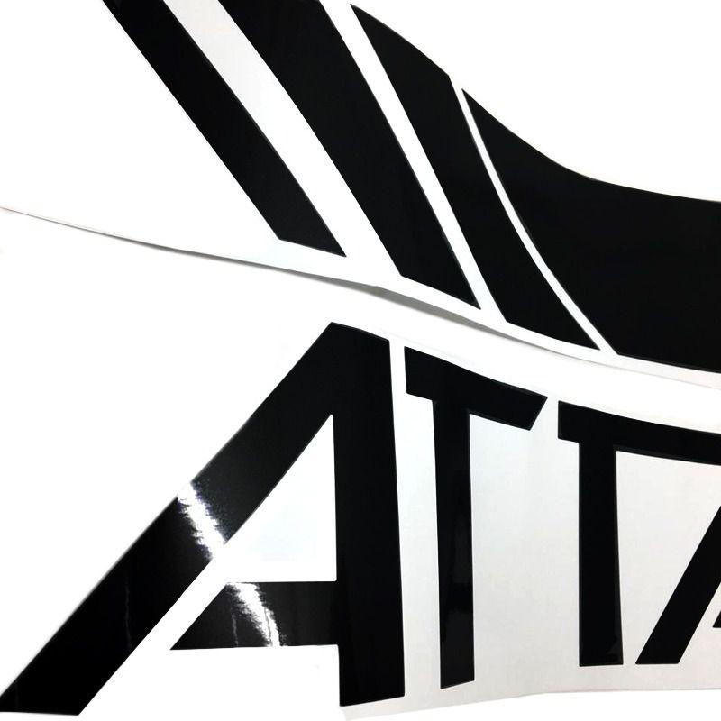 Faixa Attack Frontier 2017/2019 Adesivo Lateral Capô Preto
