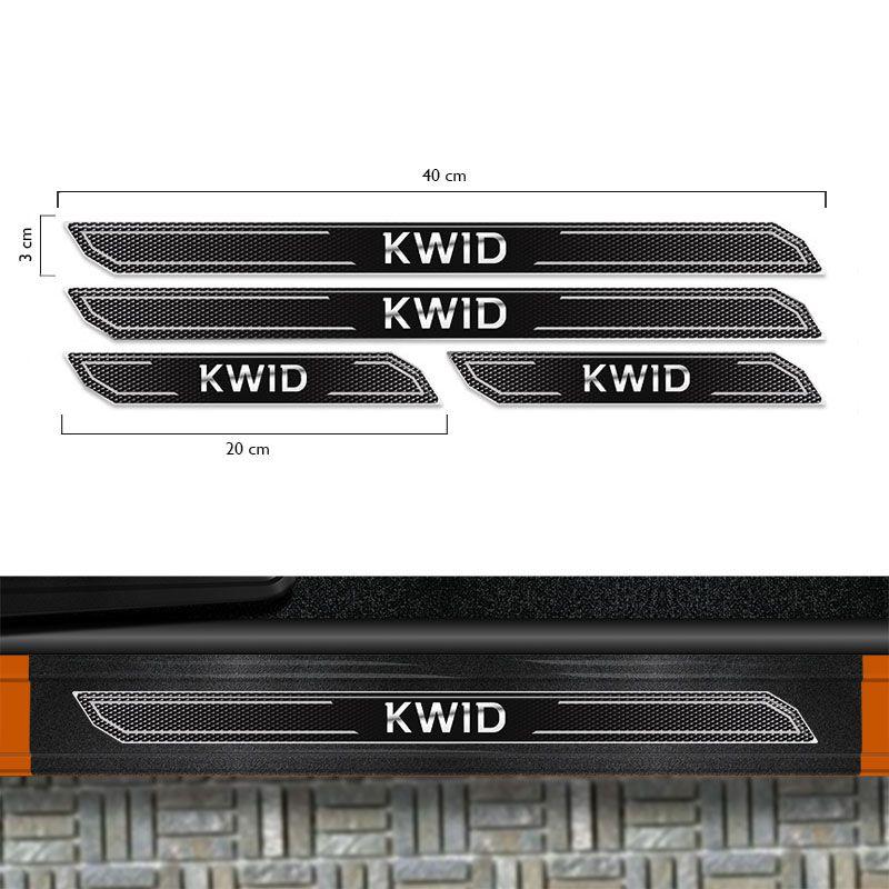 Kit Faixa Lateral Kwid Modelo Original + Soleira Protetora