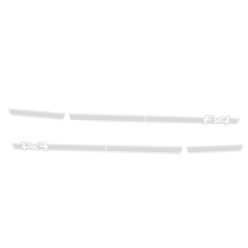 Kit Faixa Ranger FX4 Adesivo Prata + Soleira Da Porta 13/19