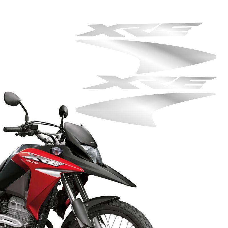 Kit Faixas Cromado Moto Xre 300 2016 Adesivo Do Tanque