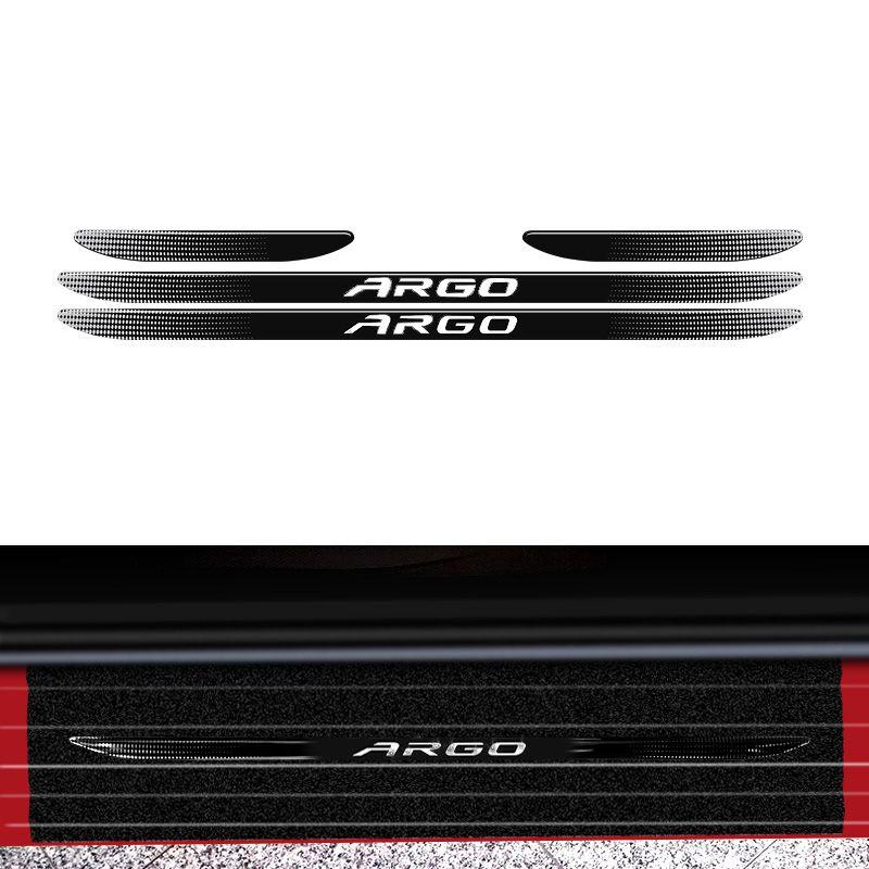 Kit Protetor Fiat Argo 2018 Adesivo Placa + Soleira Da Porta
