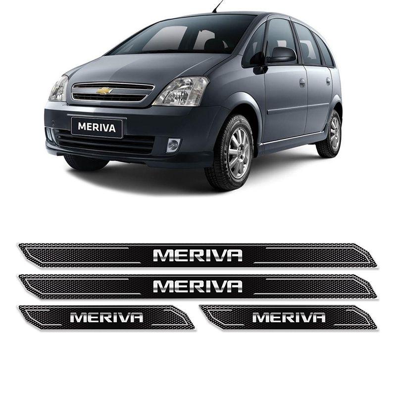 Kit Soleira Da Porta Diamante Meriva 2003/2012 Resinada